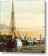 Discovery On The Banks Of The River Thames London Metal Print