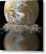 Dissolving Earth Metal Print