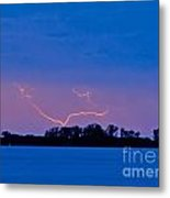 Distant Lightning Metal Print