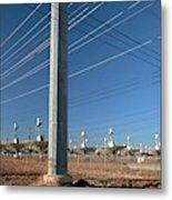 Disused Solar Power Plant Metal Print