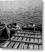 Dock At Island Lake Metal Print