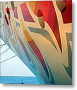Docked At A Pier Metal Print