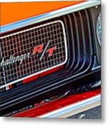 Dodge Challenger Rt Grille Emblem Metal Print