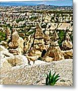 Dog Looking At Fairy Chimneys In Cappadocia-turkey Metal Print
