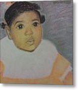 Doll Face Metal Print