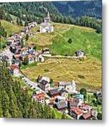 Dolomiti - Laste Village Metal Print