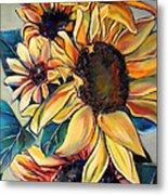 Dooley's Sunflowers Metal Print