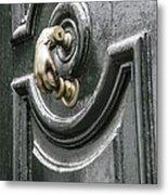 Door Knocker Metal Print