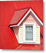 Dormer Window On Red Roof Metal Print