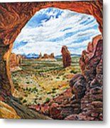 Double Arch Metal Print by Aaron Spong