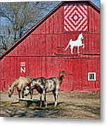 Double Bar N - 4 Metal Print