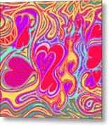 Double Broken Heart Metal Print