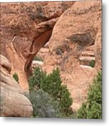 Double O Arch Metal Print
