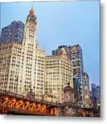Downtown Chicago View Metal Print