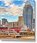 Downtown Cincinnati Pano1 Metal Print