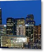 Downtown Denver At Dusk Metal Print