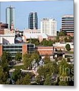 Downtown Knoxville Tennessee Skyline Metal Print