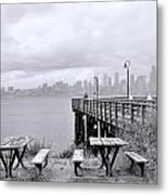 Downtown Seattle As Seen From Alki Beach Metal Print