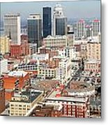 Downtown Skyline Of Louisville Kentucky Metal Print