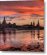 Dresden Sunset Metal Print