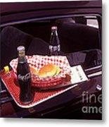 Drive-in Coke And Burgers Metal Print