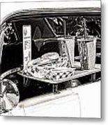 Drive-in Metal Print