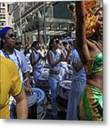 Drummer Team Performing At The 2009 Cleansing Of 46th Street Metal Print
