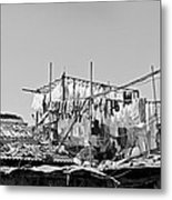 Drying Clothes Indian Style Metal Print