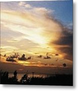 Sunset At Ducks Puddle, Bermuda Metal Print