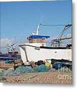 Dungeness Fishing Boats Metal Print