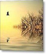 Dusk Flight Metal Print