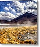 Dusty Desert Road Bolivia Metal Print