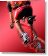 Dynamic Racing Cycle Metal Print