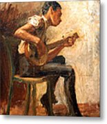 Eakins' Study For Negro Boy Dancing -- The Banjo Player Metal Print