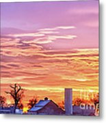Early Country Morning Sunrise Metal Print