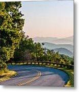 Early Morning Sunrise Over Blue Ridge Mountains Metal Print