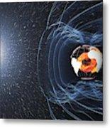 Earths Magnetic Field Metal Print