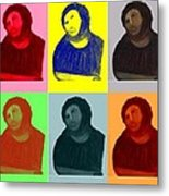Ecce Homo - Warhol Style Metal Print