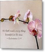Ecclesiastes 3 11 He Hath Made Everything Beautiful Metal Print