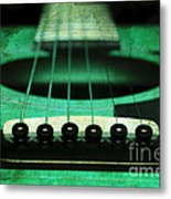 Edgy Abstract Eclectic Guitar 15 Metal Print by Andee Design