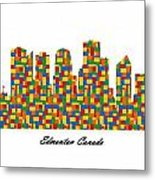 Edmonton Canada Building Blocks Skyline Metal Print