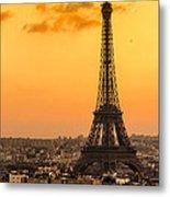 Eiffel Tower At Sunrise - Paris Metal Print