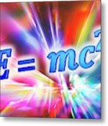 Einstein's Mass-energy Equation Metal Print
