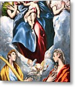 El Greco's Madonna And Child With Saint Martina And Saint Agnes Metal Print