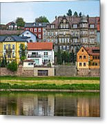 Elbe River Town Metal Print