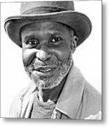 Elderly Black Man Metal Print