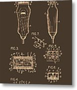 Electric Razor Patent 1940 Metal Print