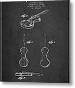 Electric Violin Patent Drawing From 1960 Metal Print