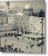 Elevated View Of The Western Wall Metal Print