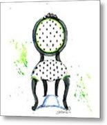 Emma Chair Metal Print